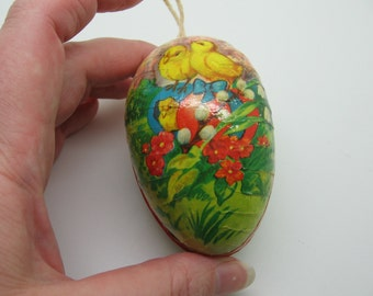 Vintage Small Paper Mache Easter Egg Western Germany