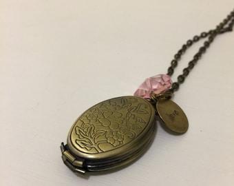 Family tree locket necklace