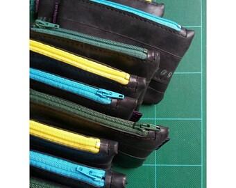 Bike tube purse - Coin pouch with zipper