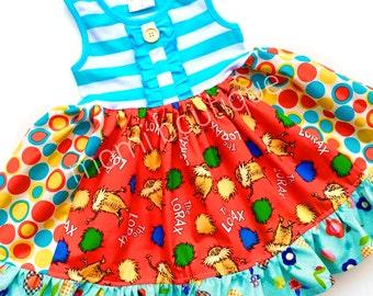 Lorax Dr. Seuss dress Momi boutique custom dress
