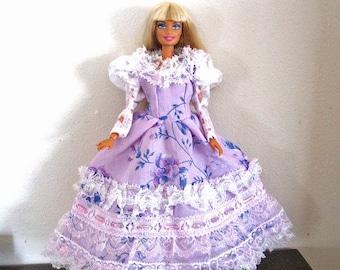 ON SALE Barbie Dress Purple Flowered Dress