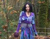 RESERVED Bohemian Wrap JacKet, Festival Clothes, Hand dyed Gypsy Coat, Intergalactic Apparel, Pixie, Gypsy Clothes, Hula Hoop Clothes