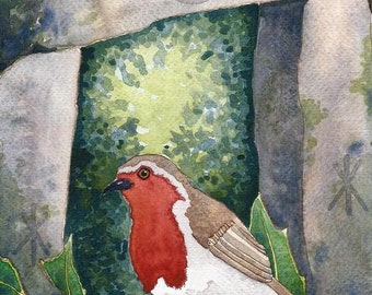 Robin ORIGINAL painting by Danielle Barlow