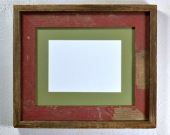 8x10 eco friendly wood picture frame with 5x7 or 8x6 mat free US shipping