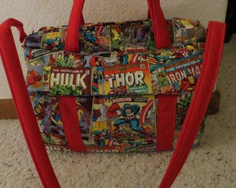 Marvel Comic Diaper Bag w/change pad by EMIJANE