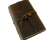 ON SALE! Large Mens Leather Journal, Rugged Brown Journal, Large Sketchbook, Leather Travel Journal, Gifts Under 50, Leather Sketchbook