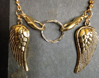 Golden Wings Maternity Necklace - Ring Holder