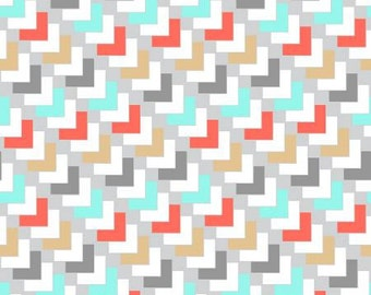 KOHANA- Multi Geo Squares -3 Wishes - Southwestern Fabric-  Multi -Cotton Fabric - Quilting- Sewing - Crafts- By the yard & Half yard