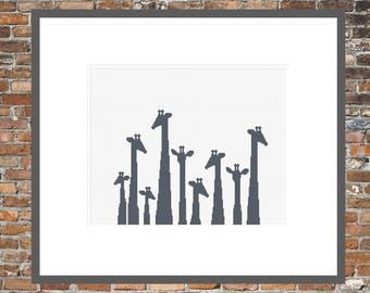 A Gaggle of Giraffes - a Counted Cross Stitch Pattern