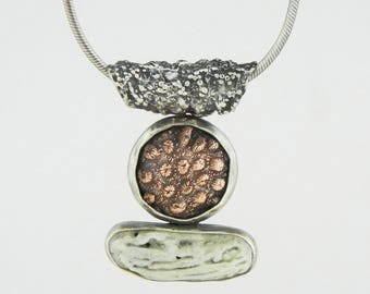 Coral Coral Coral- Sterling Copper Coral Necklace