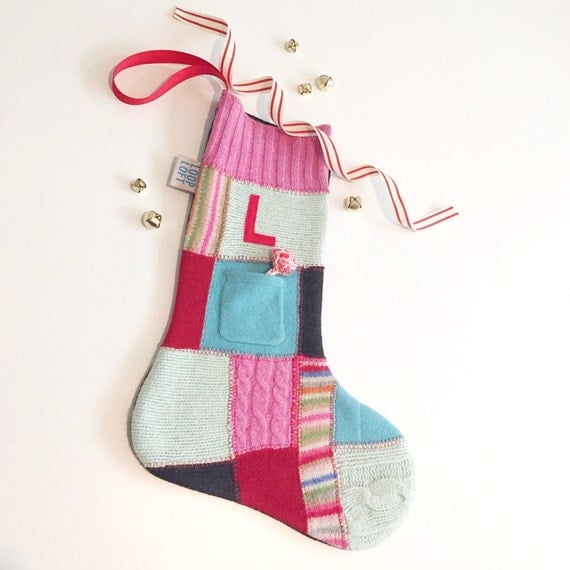 Christmas Stocking. CUSTOM stockings. personalized christmas stockings. repurposed from sweaters. choose your quantity.