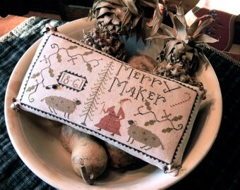 Merry Maker - cross stitch - DOWNLOADABLE PDF PATTERN - from Notforgotten Farm™