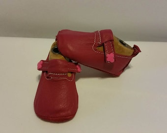 Baby crib shoes size 0 Leather