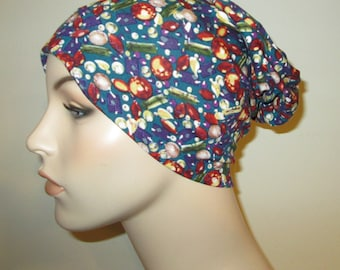 Multi Colored Gems  Chemo Cap, Cancer Hat, Alopecia, Modest Hat,