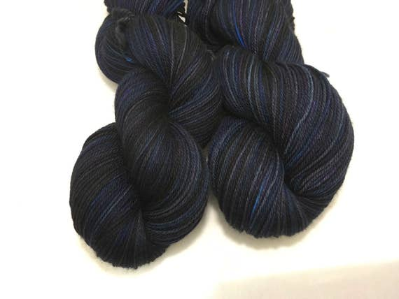 Moonlit Thestrals - Dyed to Order - Hand Dyed - Merino Wool Yarn - Fingering Weight - Harry Potter Yarn