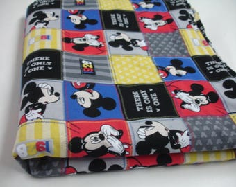 Mickey Mouse Receiving Blanket or Lovey 19 x 32 READY TO SHIP On Sale