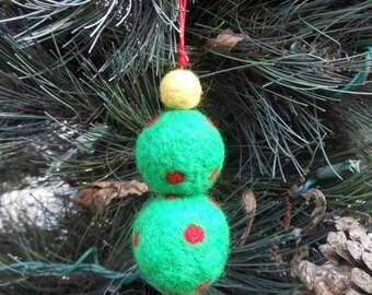 Wool Needle Felted Christmas Tree Ornament