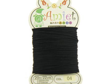 Black Toho Amiet Polyester Thread 22yrds/20m