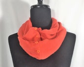 Infinity Cashmere Wool Scarf made from an upcycled orange sweater