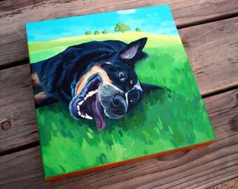 "Custom Pet Portrait on Canvas - 10""x10"""
