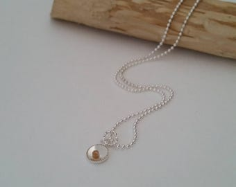Round Mustard seed jewelry, REAL mustard seed charm