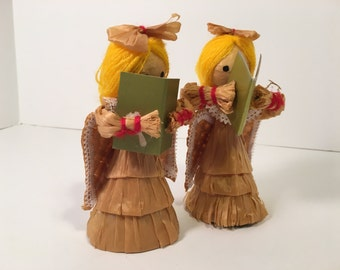 Vintage Singing Angel Ornaments
