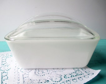 Vintage Westinghouse Refrigerator Dish White with Lid - Mid Century