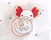 Axolotl Enamel Lapel Pin ~ Gari