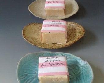 Pottery soap dish, small, small cube soap