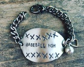Baseball Mom Spoon Bracelet