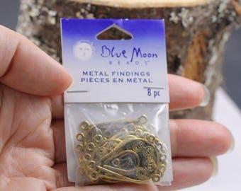 Metal Findings Jewelry Making Connectors Chandelier Earrings Pendants Unopened Package Set of 8