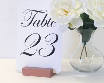 Copper Table Number Holders + Copper Wedding Table Number Holders (Set of 10)