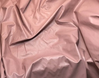 Dusty Pink Faux LEATHER Fabric  fat 1/4