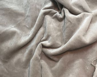 """Hand Dyed Cotton VELVETEEN Fabric TAUPE BROWN fat 1/4 18""""x27"""" remnant"""