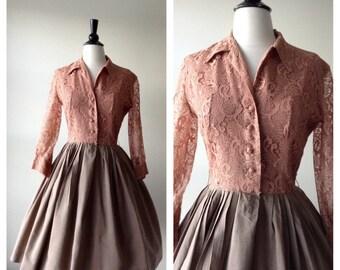 Vintage 1950s Dress - 50s Lacy's Dress