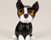 Boston Terrier Lampwork Dog Bead