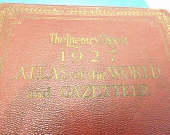 1927 The Literary Digest Atlas of the World and Gazetteer     WM102
