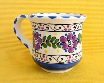 Purple and Blue Ceramic Mug