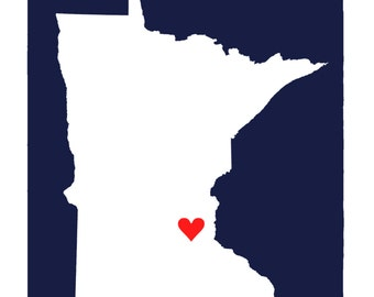 MN with love print 11x14""