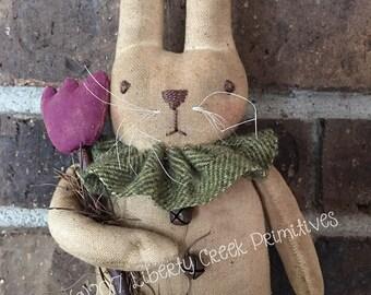 Violet Easter Bunny Spring Rabbit Primitive Pattern