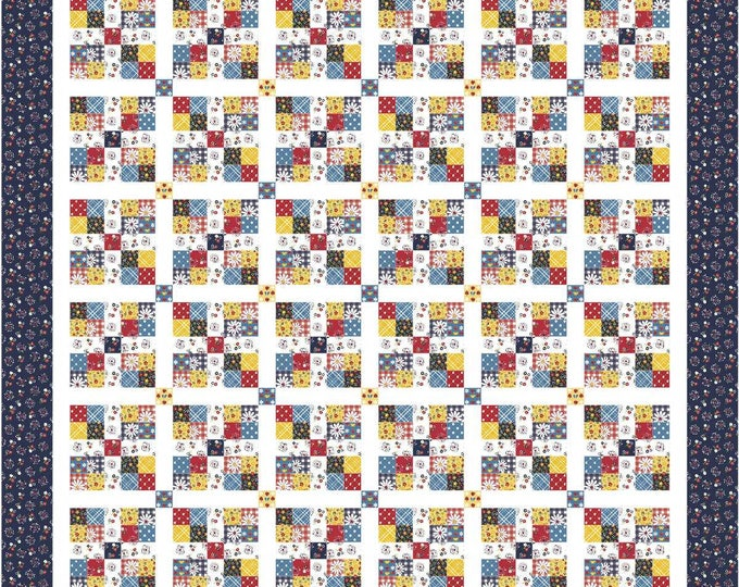 """Featured listing image: Anna Mae Quilt Kit by MtnRoseDesigns featuring Gingham Girls by Amy Smart (65"""" x 65"""")"""