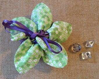 Flower dice bag 'Mod Plum'