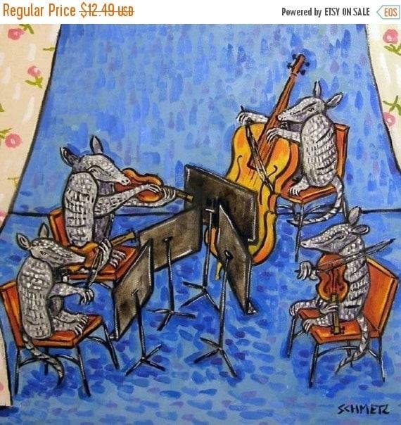 30 Off Armadillo String Quartet Animal Art Tile