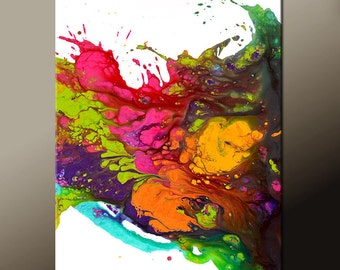 RESERVED Abstract Canvas Art Painting Canvas 36x24 Original Modern Contemporary Paintings by Destiny Womack - dWo - EUPHORIA