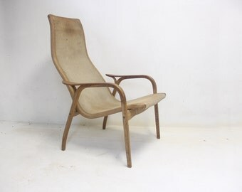 Swedese Lamino Suede Lounge Chair Designed by Yngve Ekström