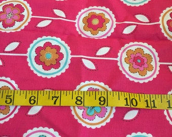 One Yard of Pink Floral Fabric