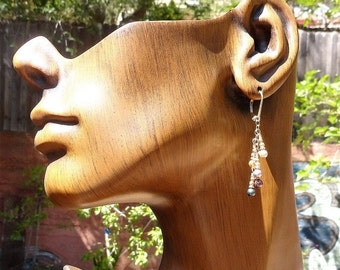 On Sale Earrings Gold Fill with Swarovsky Pearls in Five Colors