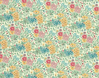 Petite Green Mixed Meadow Flowers Italian Paper ~ Carta Varese Italy  IPV847GR