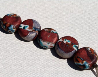 Polymer Clay Beads/Copper #1