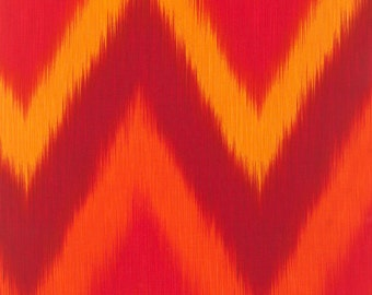 Ikat Red Stripes Timeless Treasures Fabric 1 yard